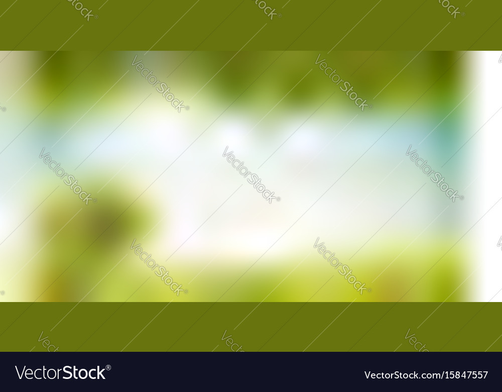 Summer nature background with landscare and sun vector image
