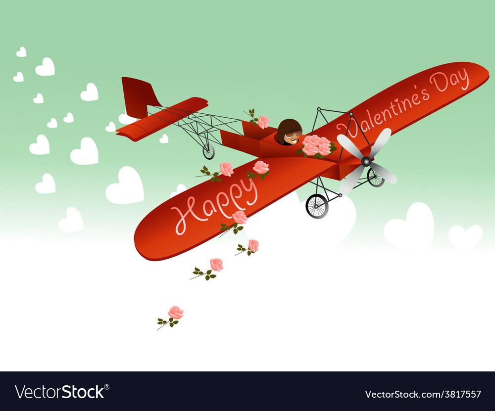 Valentine love plane