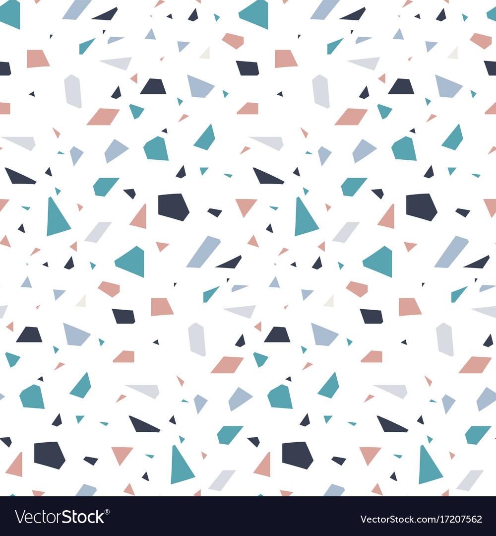 Abstract Granite Stone Terrazzo Floor Texture Vector Image