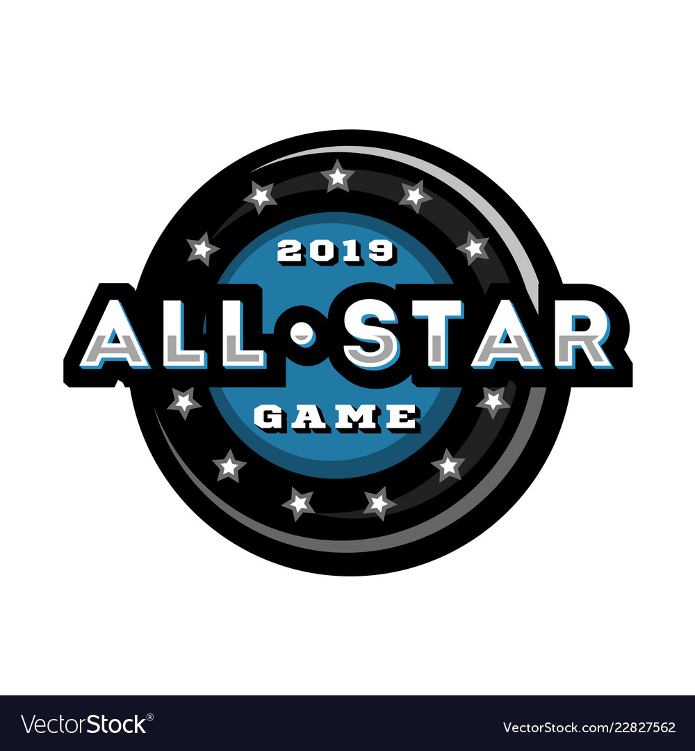 All star game template logo design