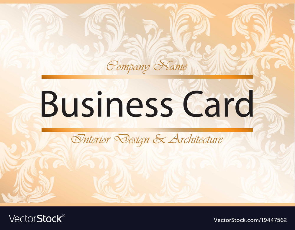 Business card interior design and architecture vector image reheart Image collections