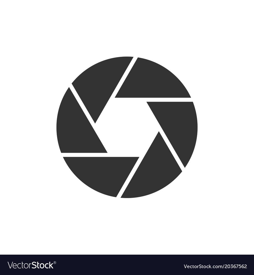 Camera objective black icon