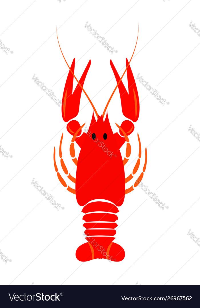 Crayfish icon red river lobster langoustine