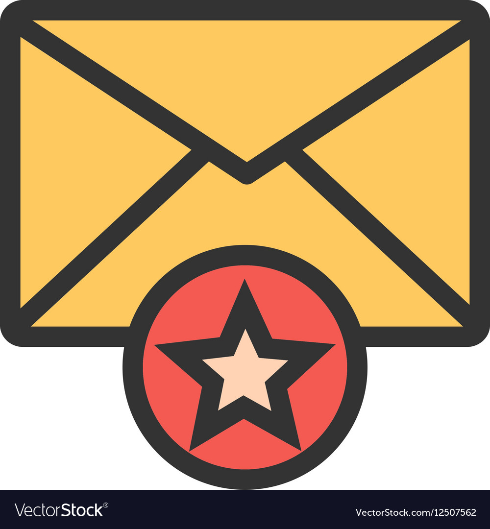 Favorite Mail vector image