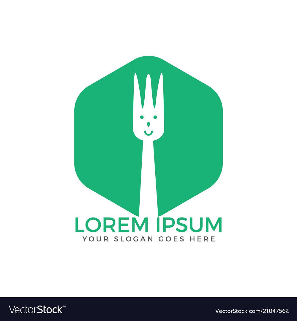 Fork icon food logo design