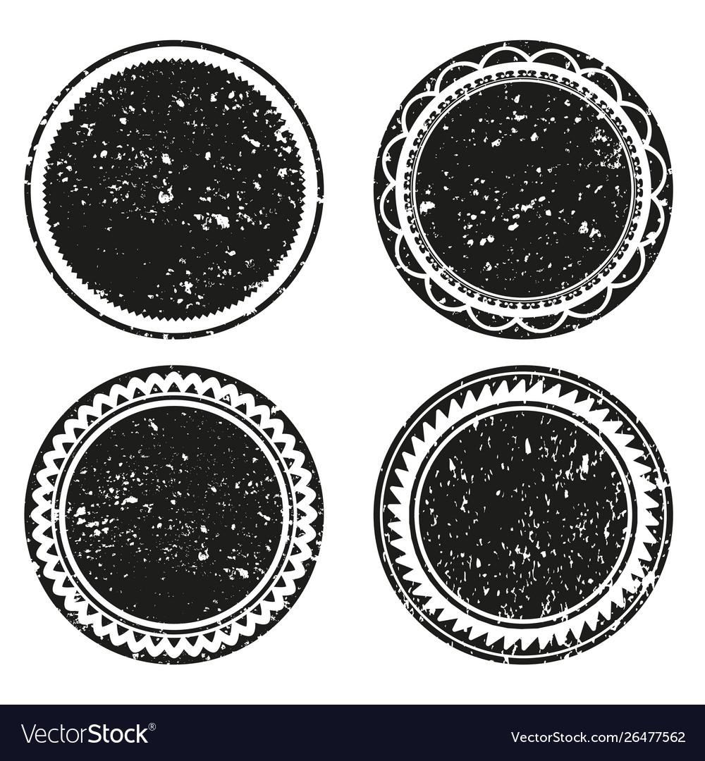 Frame labels grunge isolated set ornamental