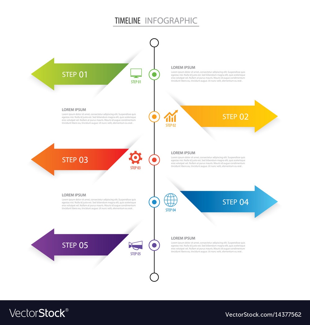 Modern 5 step infographic design template