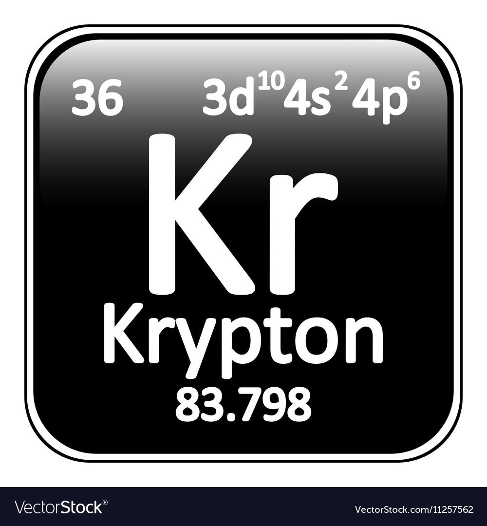 Periodic table element krypton icon royalty free vector periodic table element krypton icon vector image urtaz Choice Image