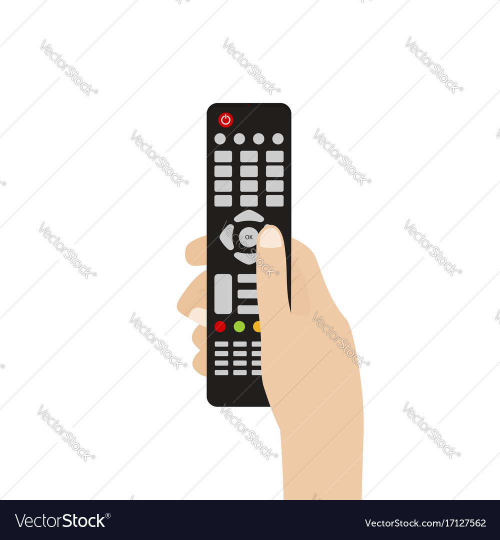 Remote control for tv hand holding tv remote