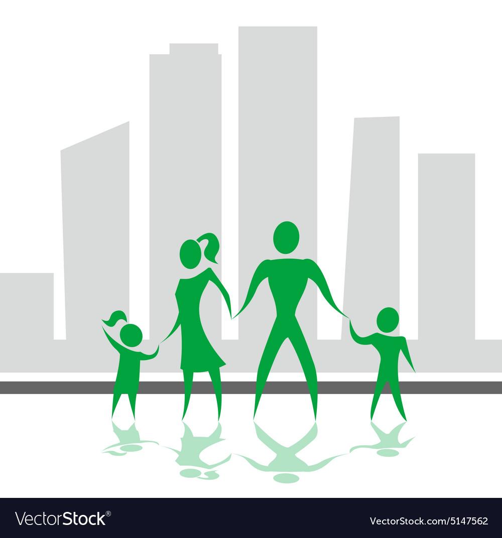 Social health life style design vector image