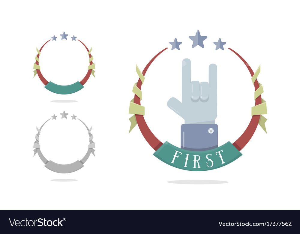 template medal for first place trophy winner vector image