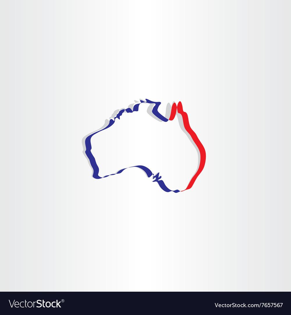 Australia stylized map icon symbol