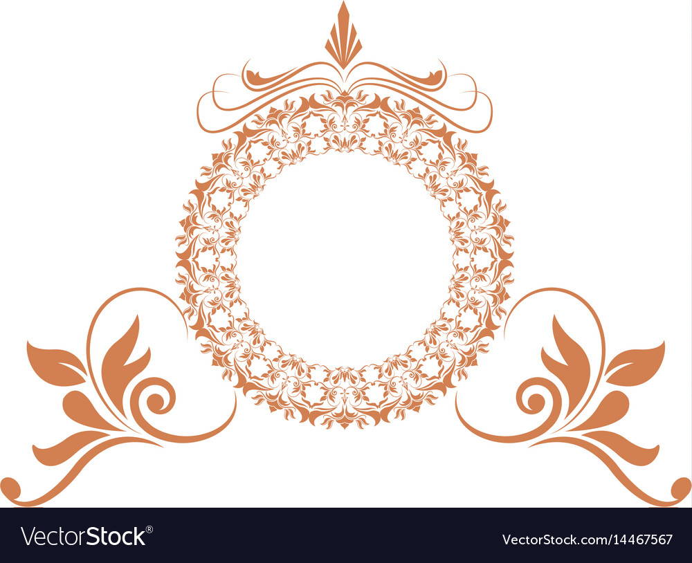 Elegant round decorative frame flourish