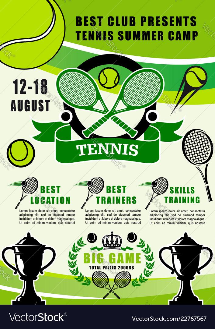 Tennis sport summer camp training club