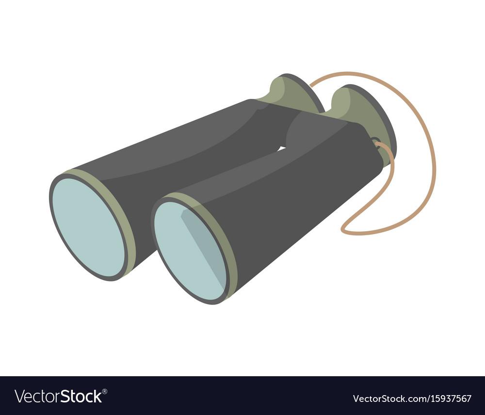 Tourist binoculars isolated icon