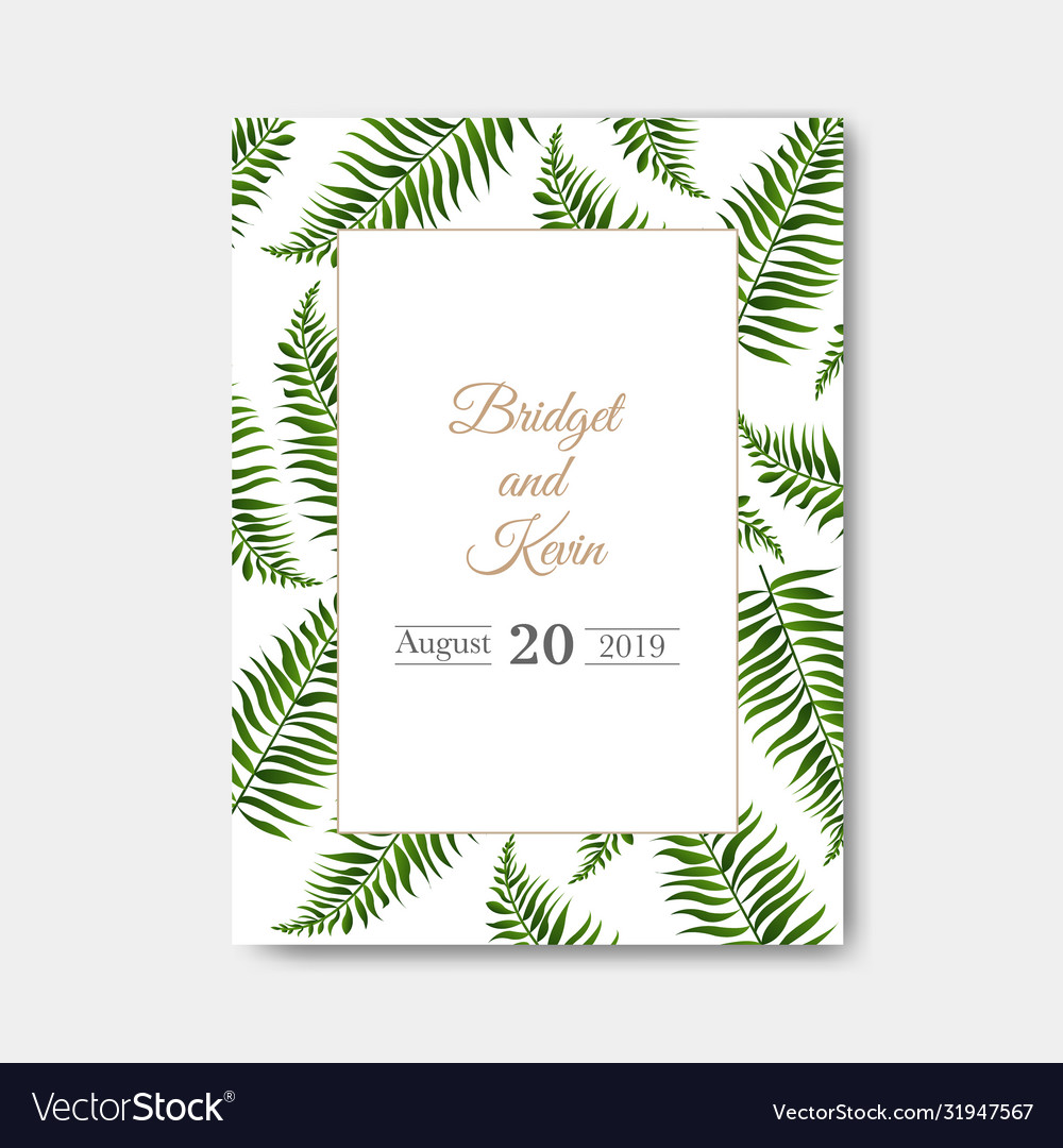 Wedding invitation isolated