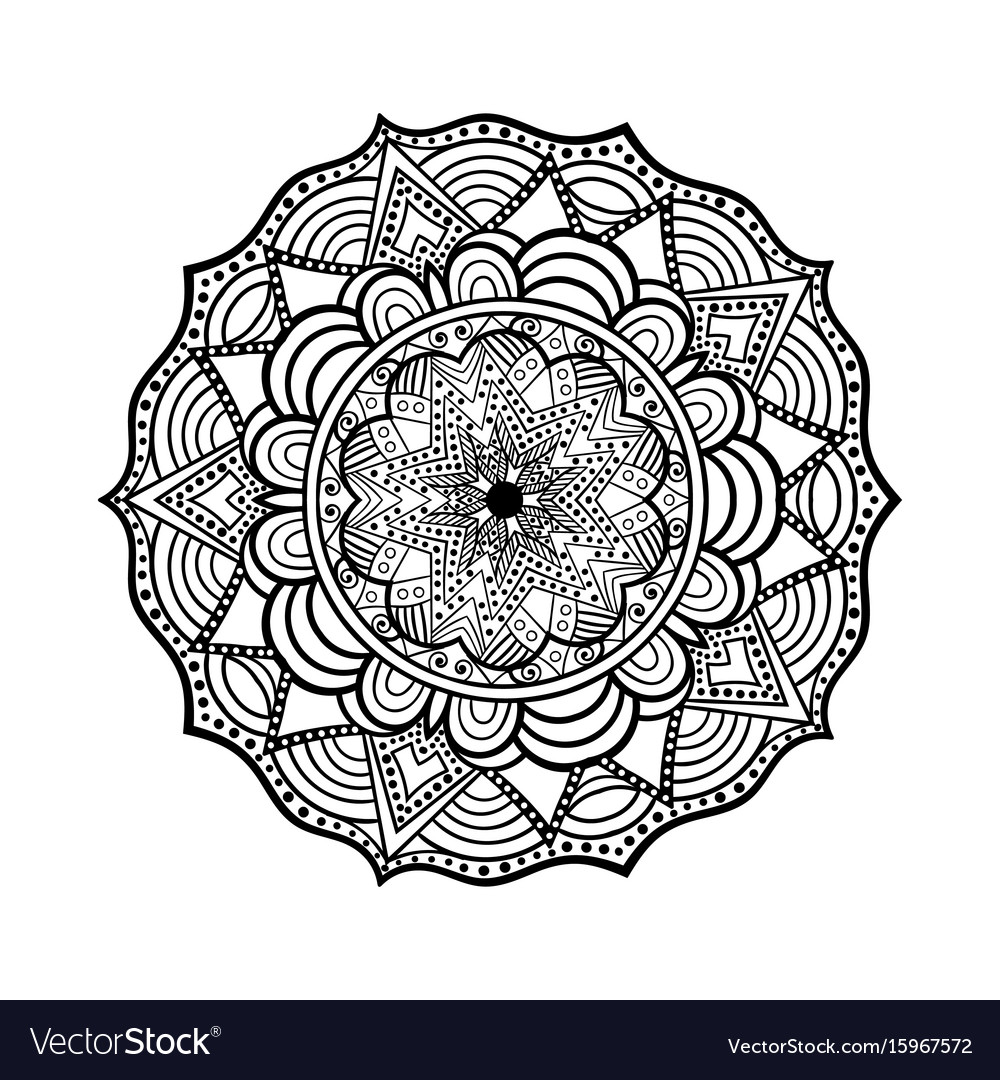 Decorative hand drawn mandala ethnic decorative