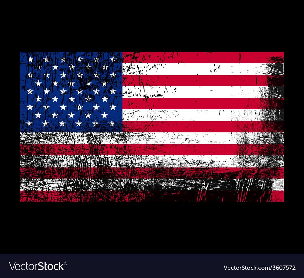 Grunge flag of america