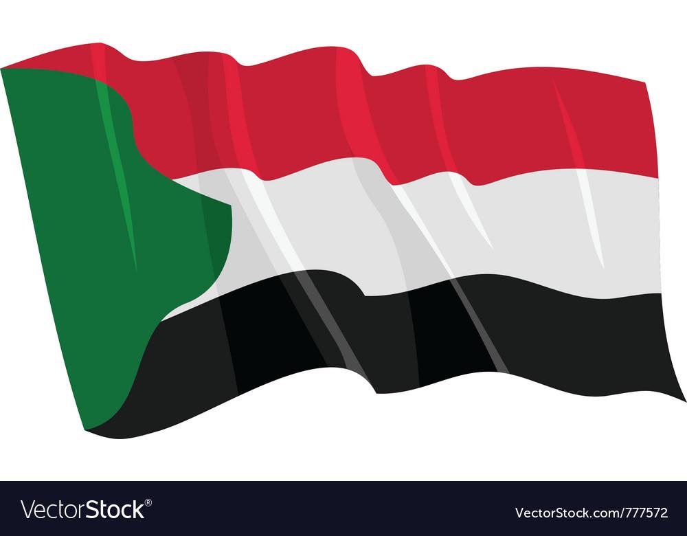 Political waving flag of sudan vector image