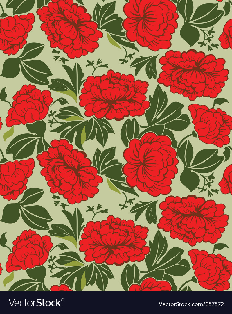 Red peonies vector image