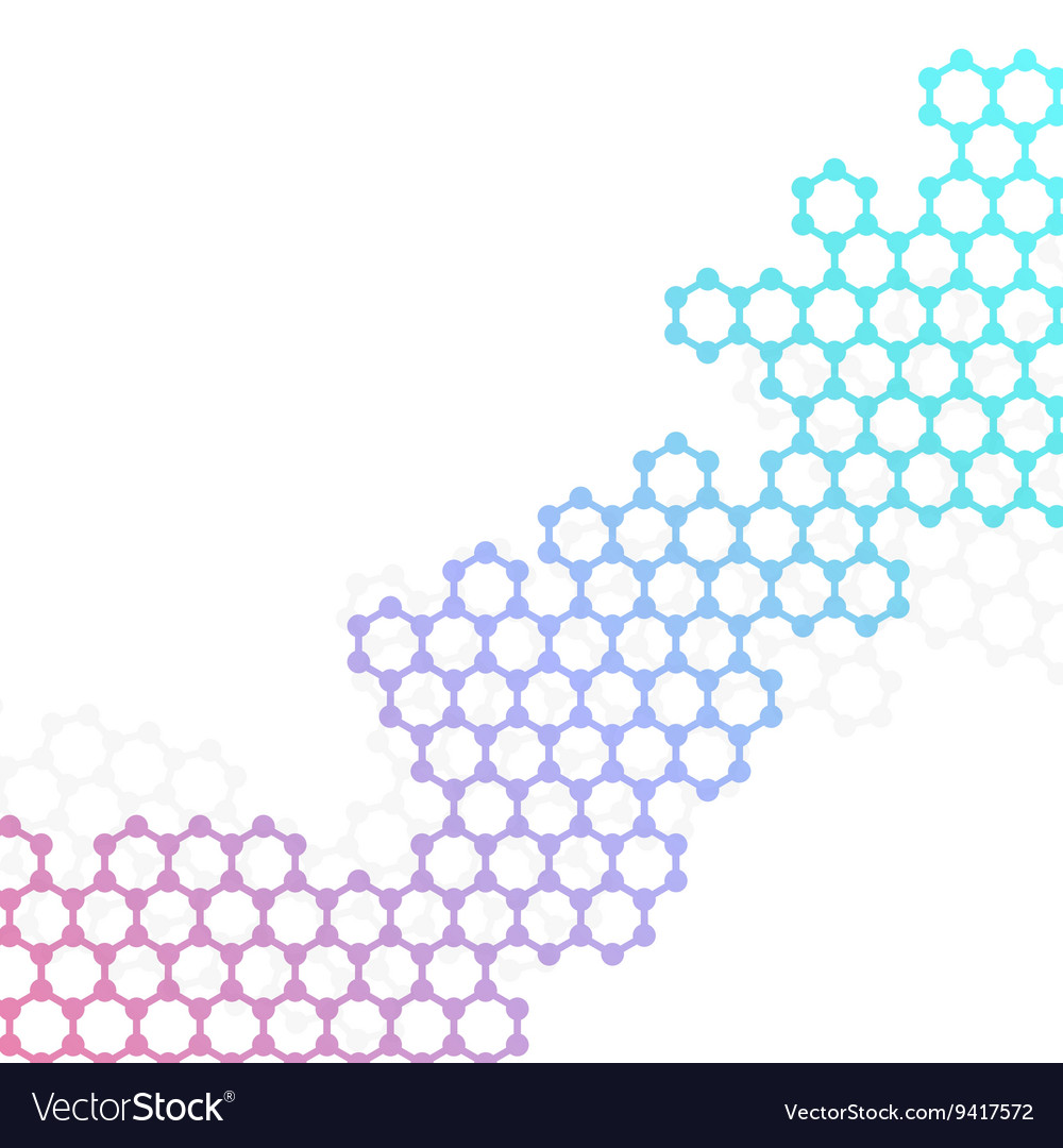Structure molecule of DNA and neurons vector image