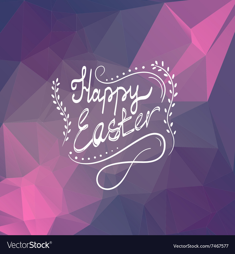 Card with Happy Easter lettering-3 vector image