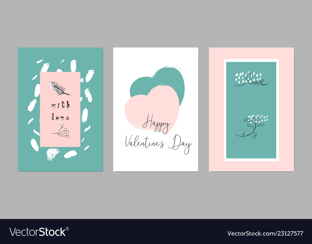Lovely abstract hand drawn greeting cards with
