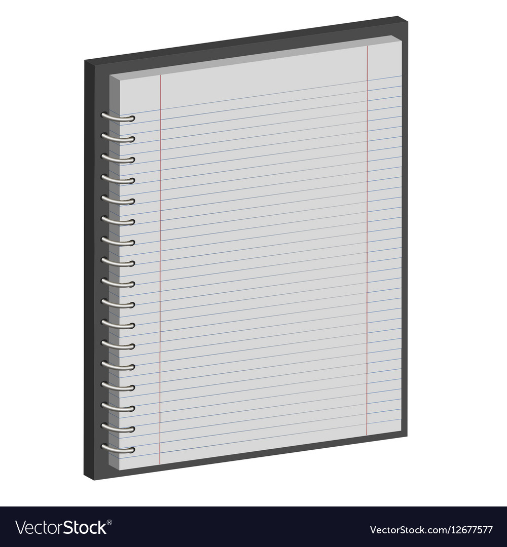 Note book paper Notepad 3D vector image