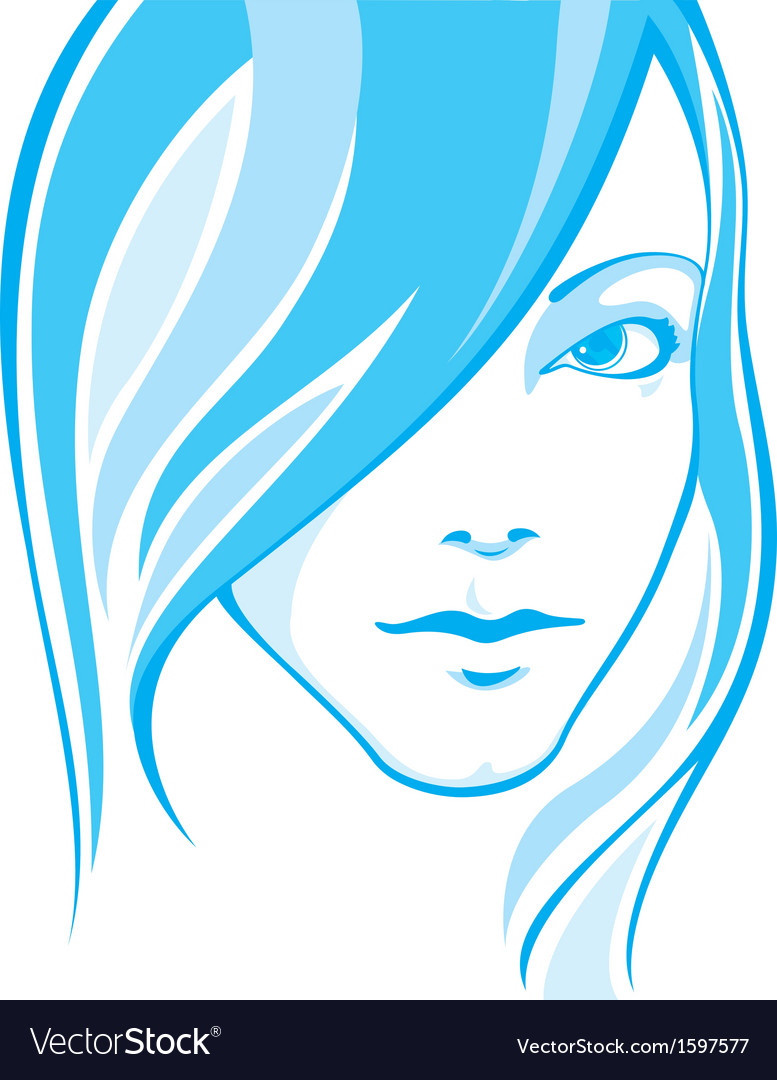 Portait of a girl vector image