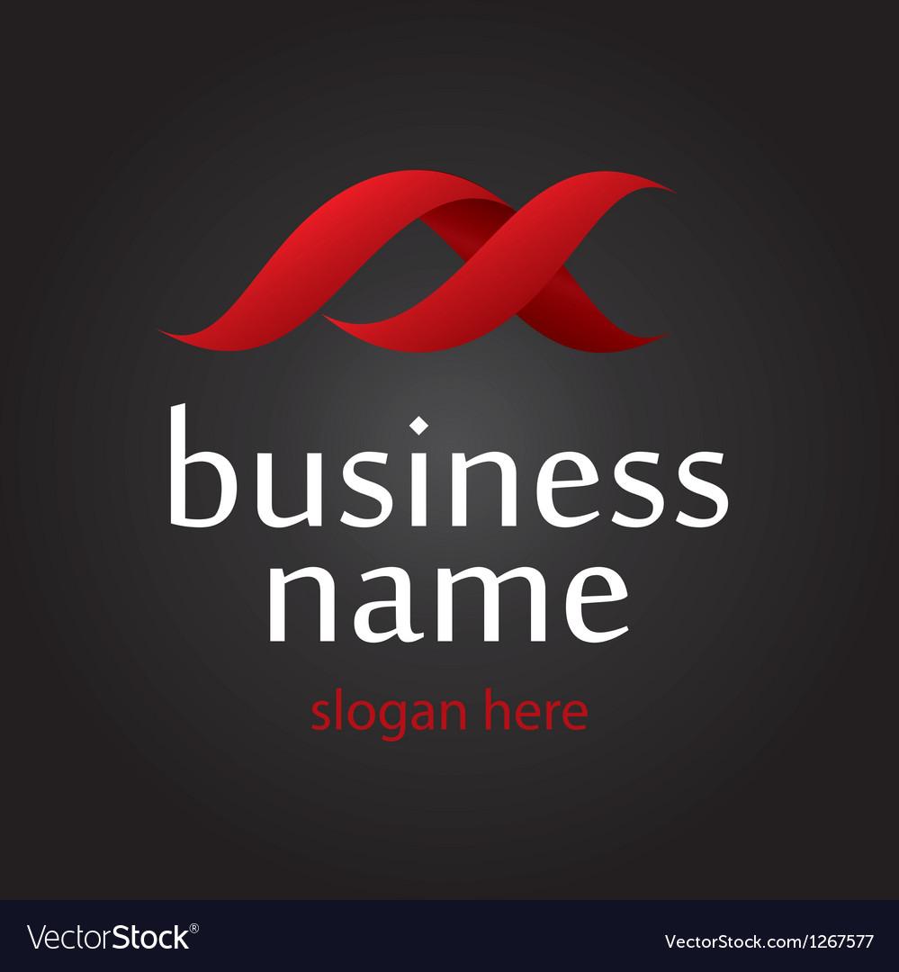 Ribbon logo vector image