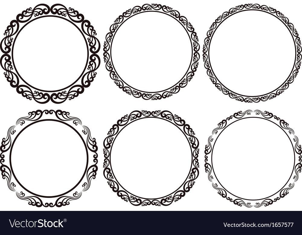 Round frames Royalty Free Vector Image - VectorStock