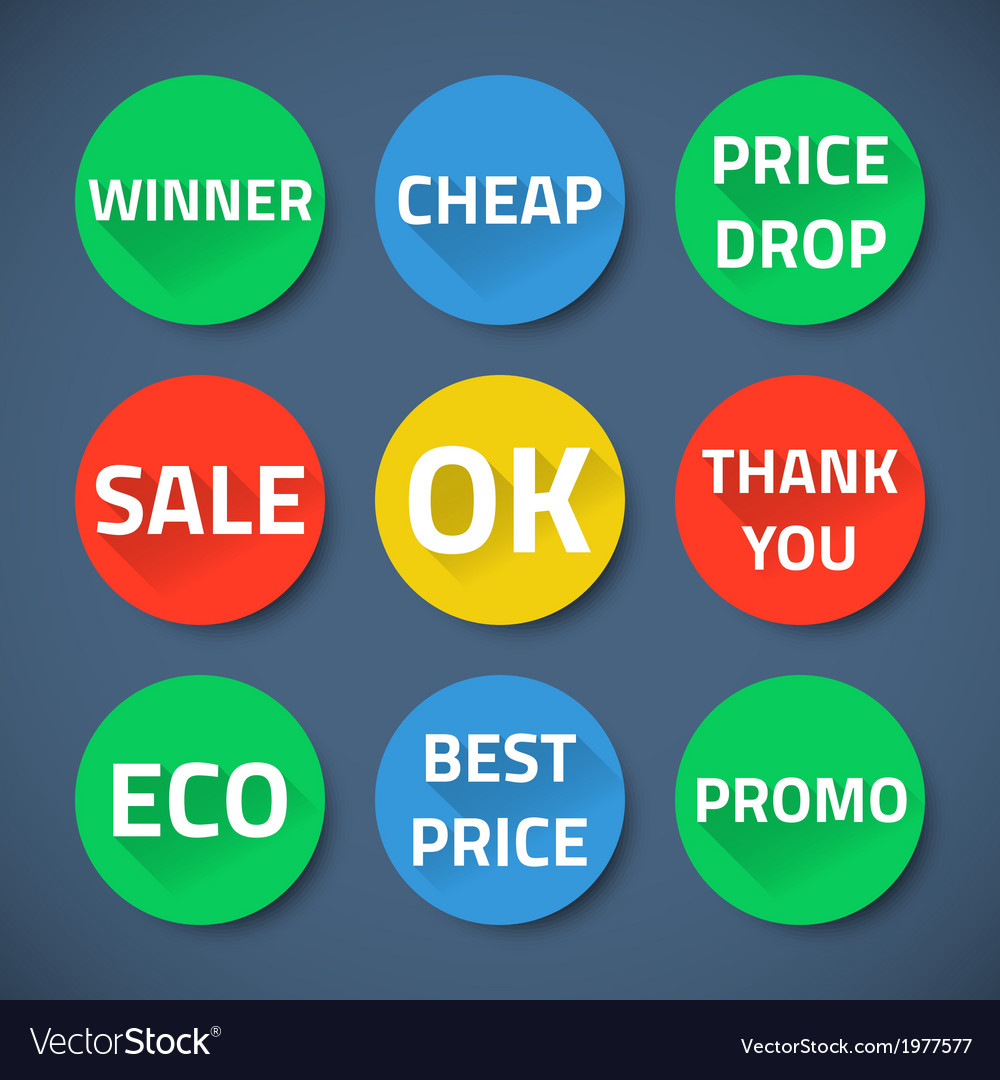 Set of bussiness sale promotion signs
