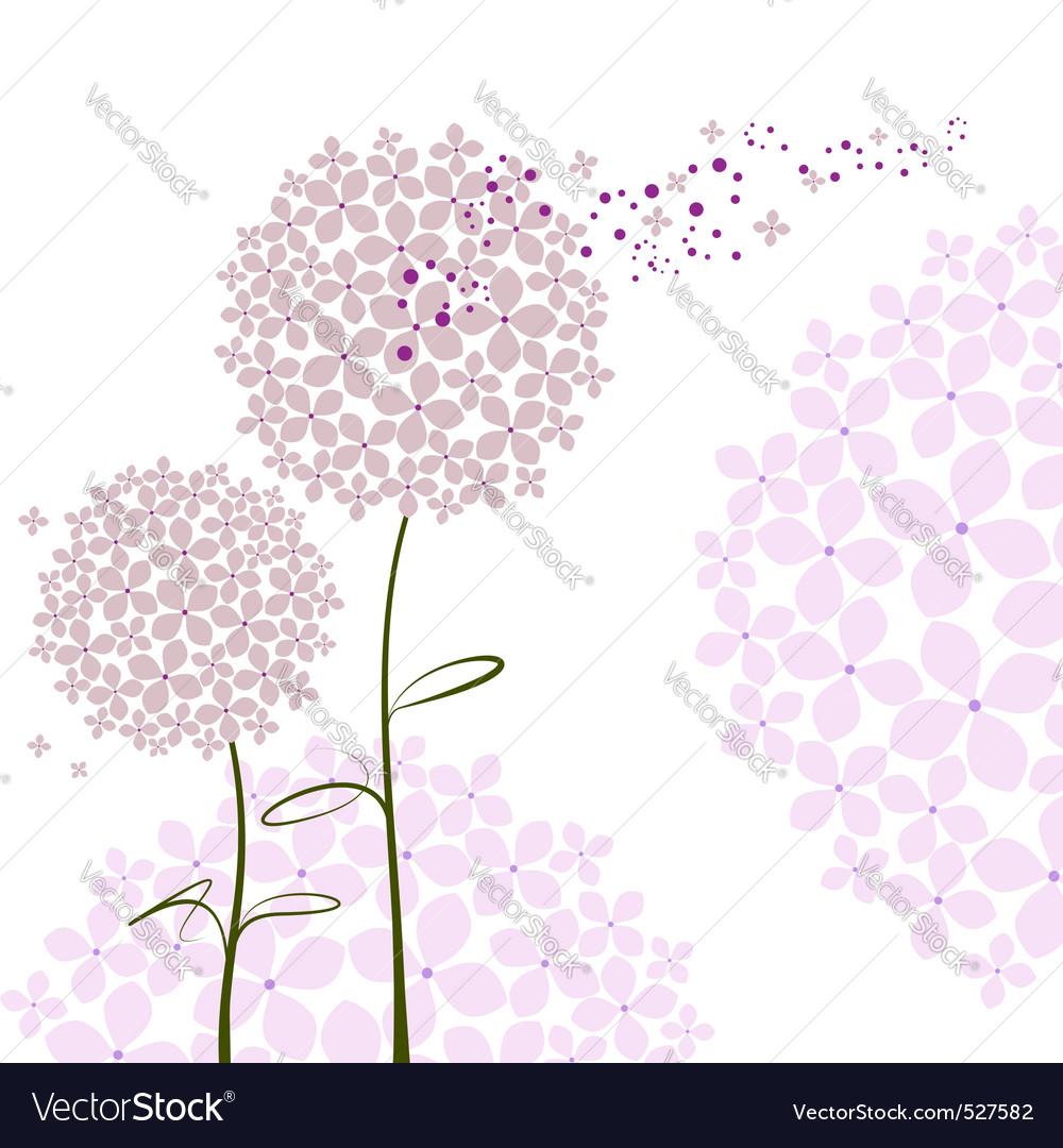 Abstract springtime purple hydrangea flower