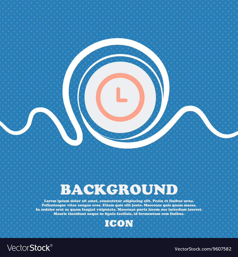 Alarm icon sign Blue and white abstract background