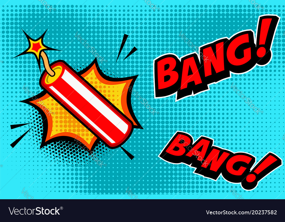 Comic book style background with dynamite stick