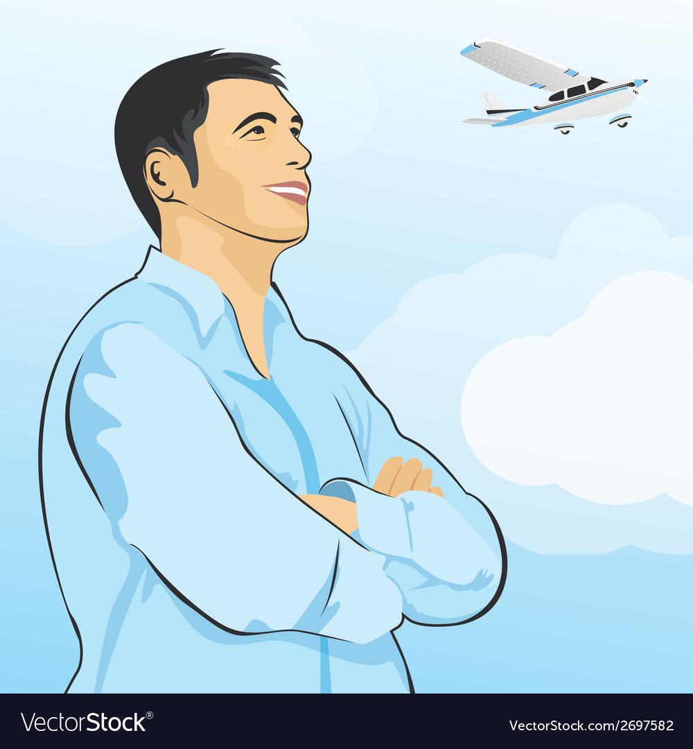 Dreaming man vector image