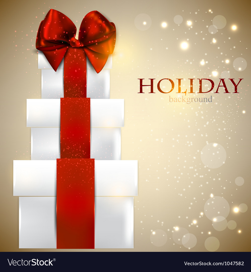Elegant Christmas gifts background Royalty Free Vector Image