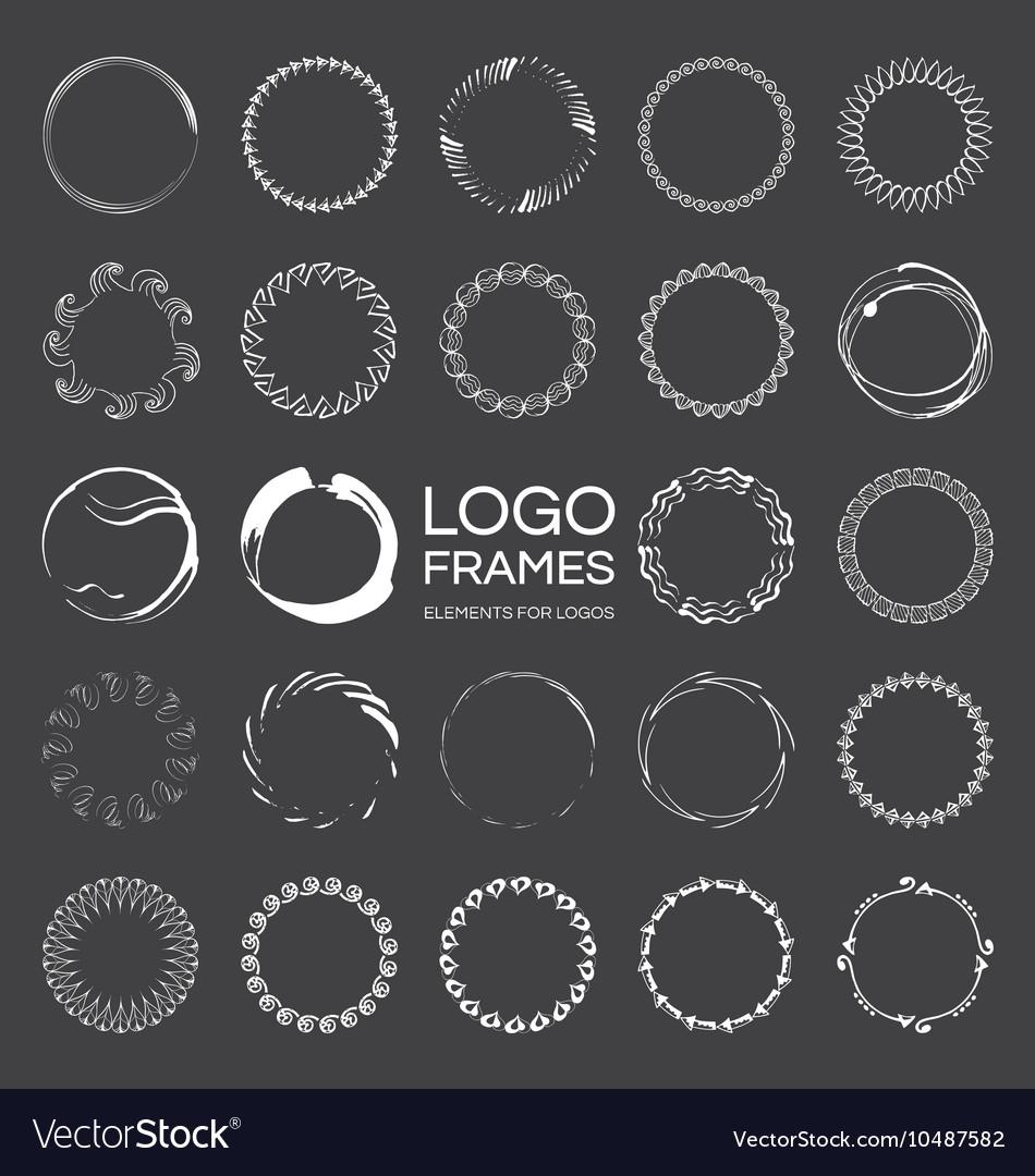 Handdrawn round frames