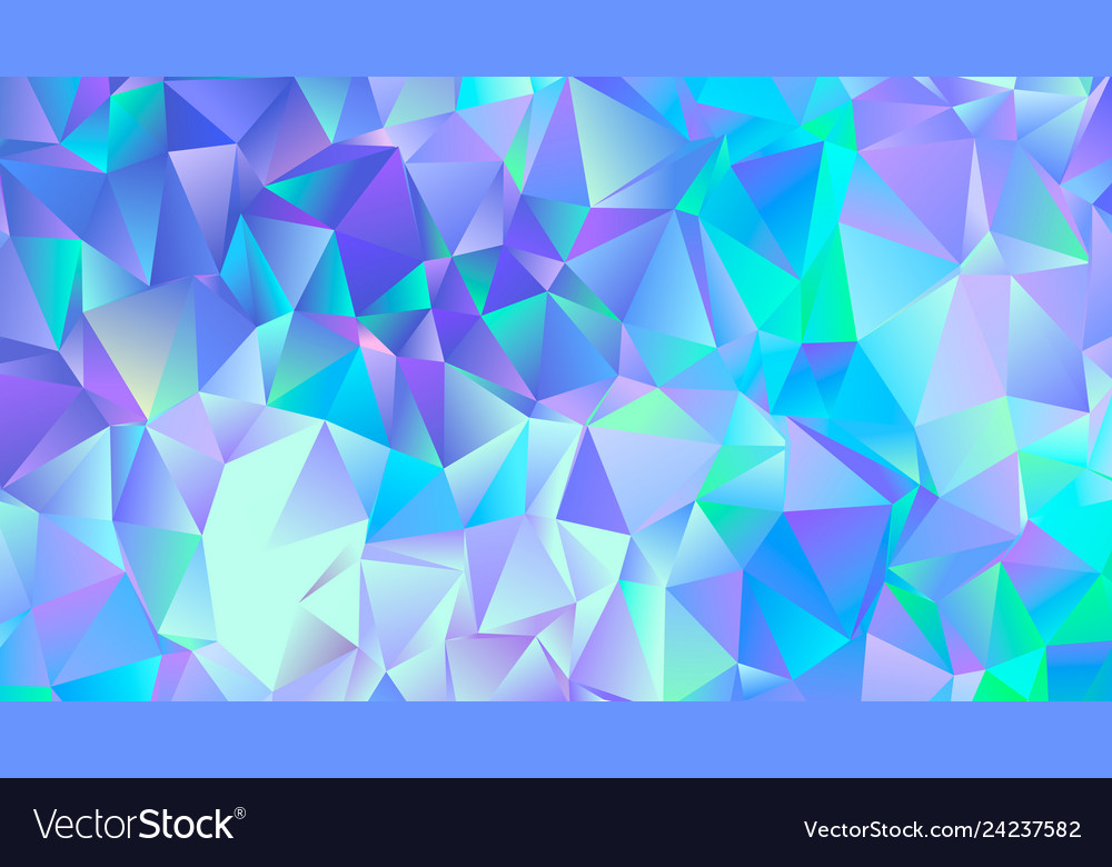 Pastel blue crystal low poly backdrop design