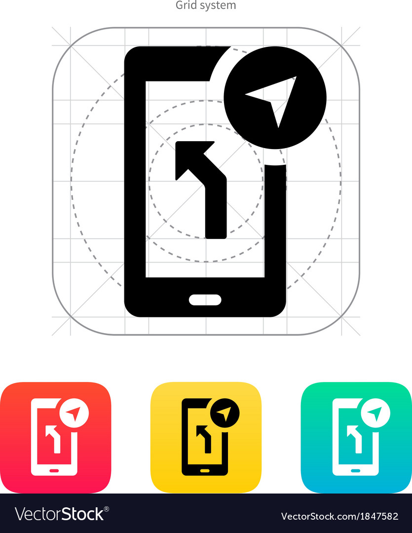 Road navigator icon