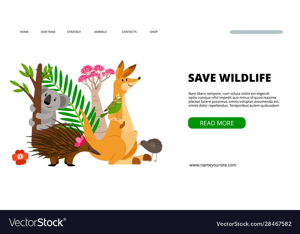 Save wildlife landing page