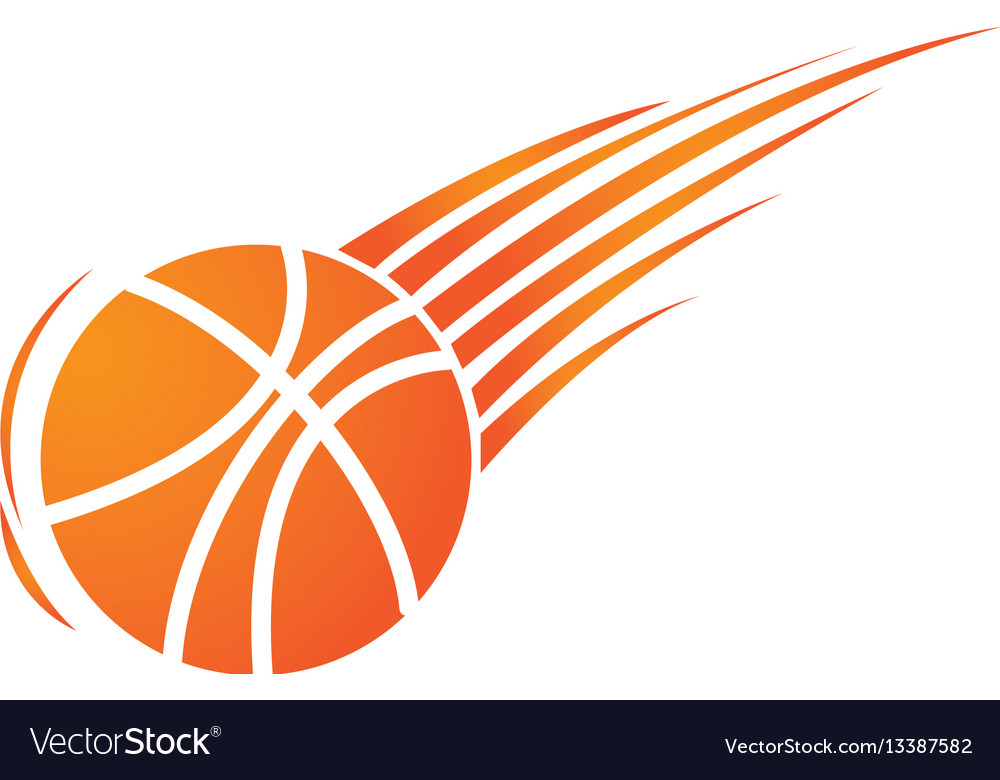 Silhouette colorful basketball icon sport