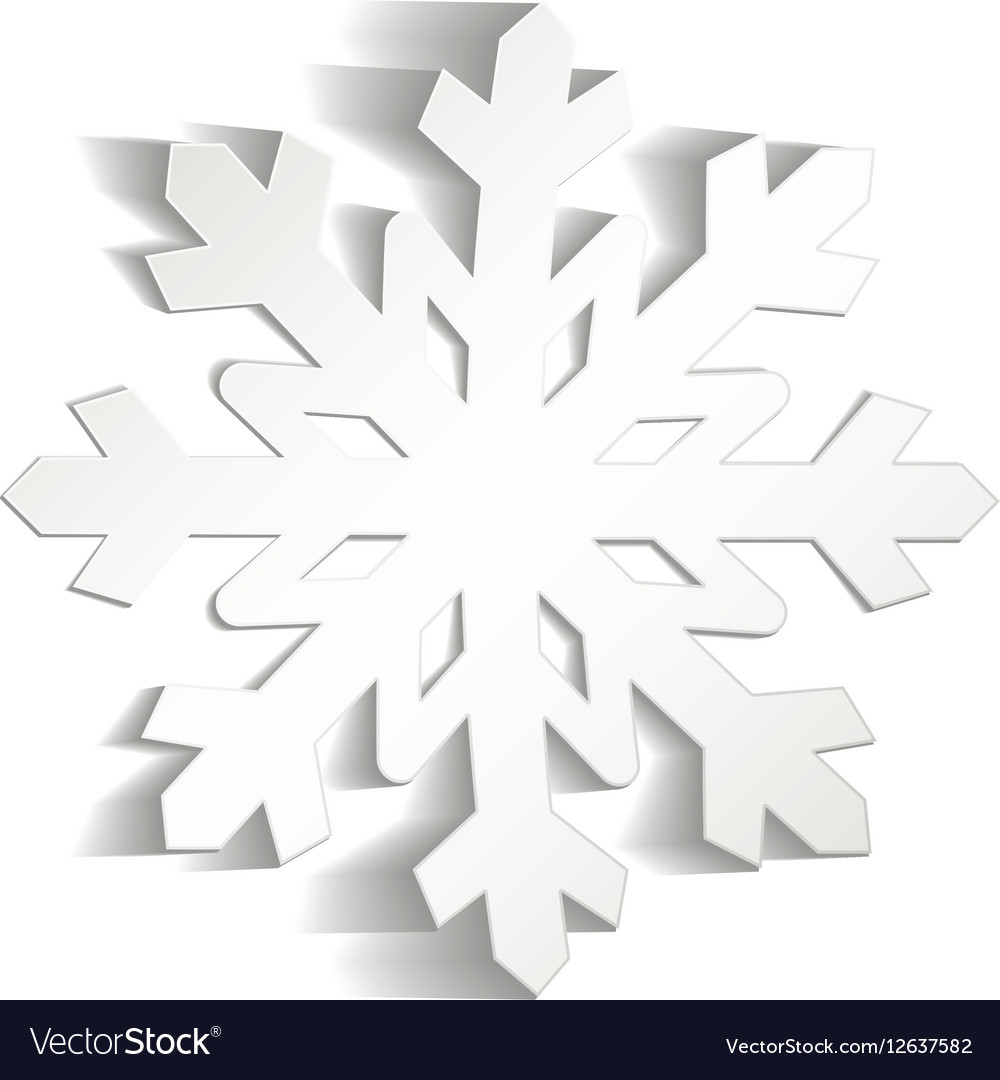 Christmas Snowflakes.Snowflakes Cut From Paper Christmas Icon Isolated