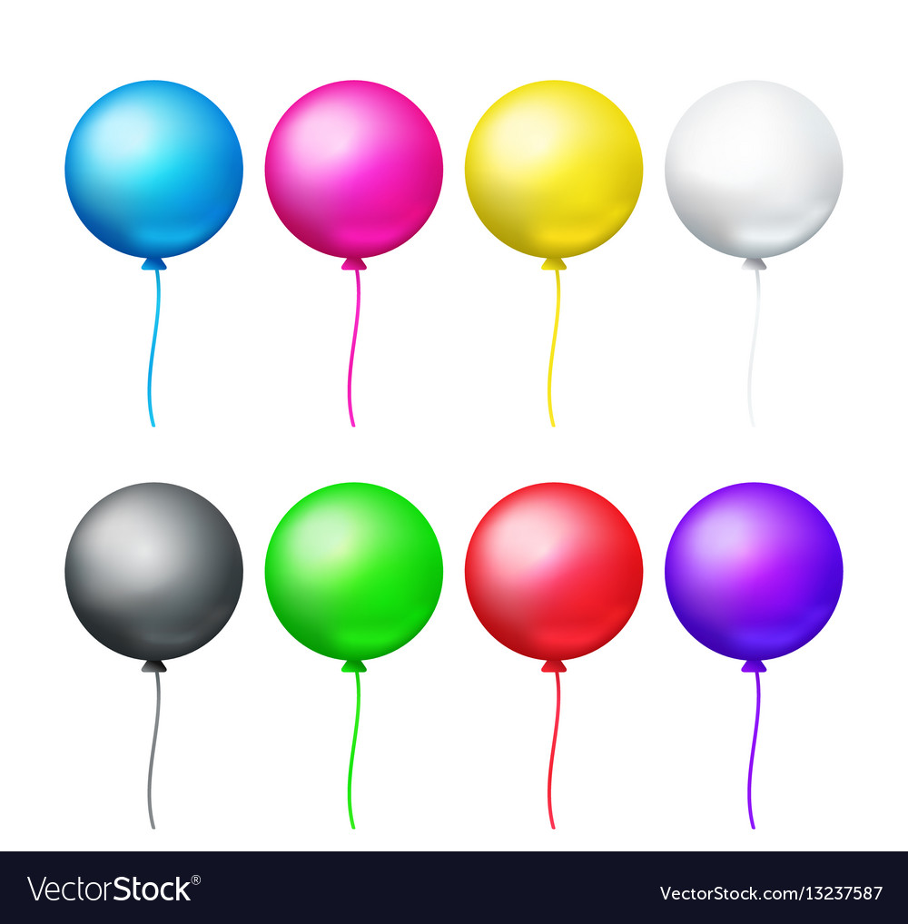 colored balloons set royalty free vector image