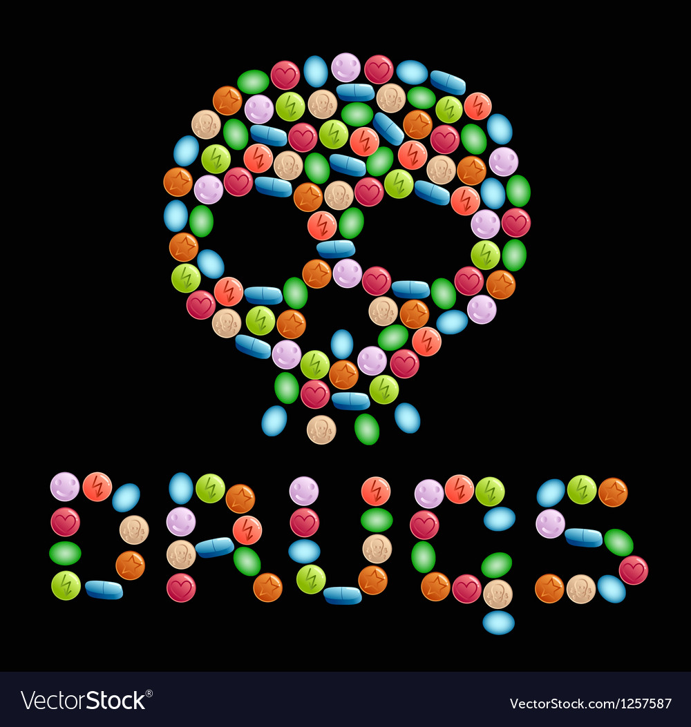 Drugs vector image