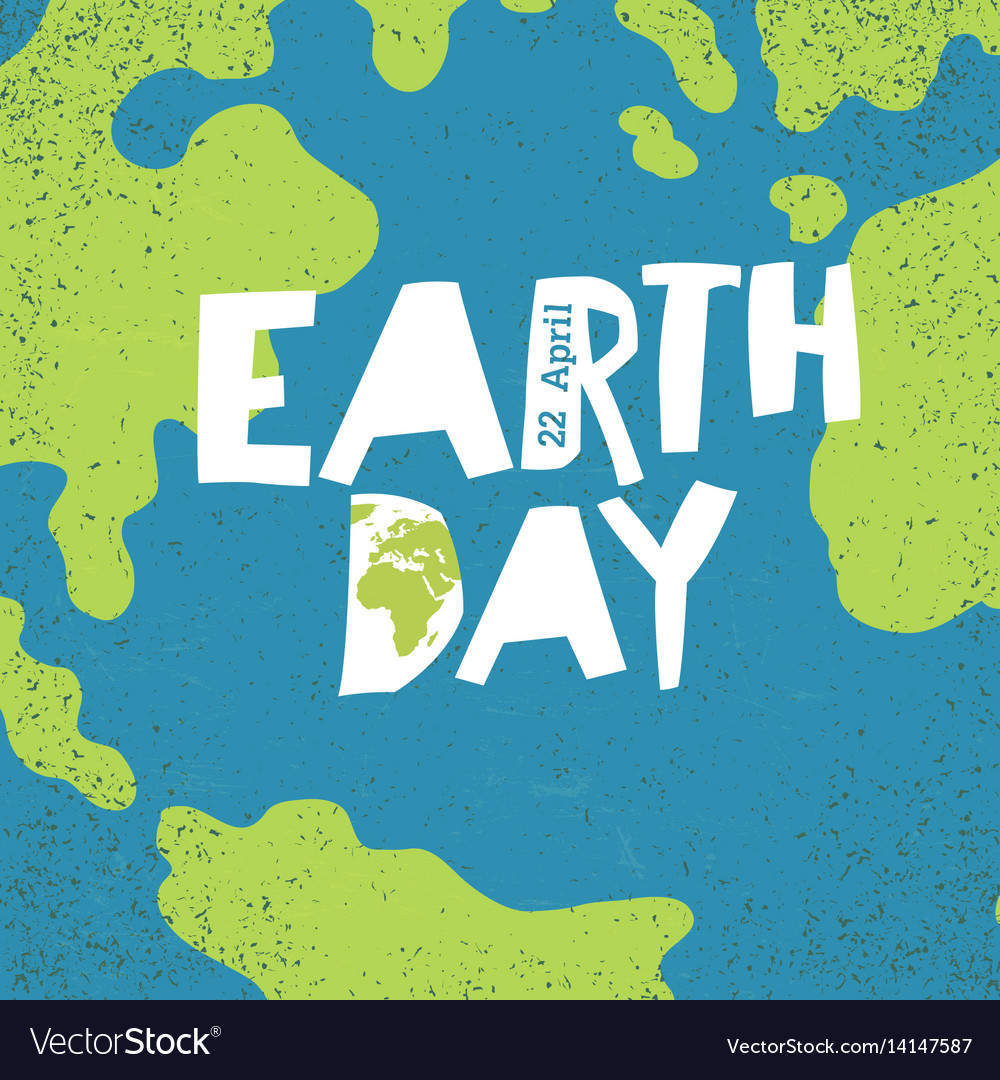 Earth day concept creative design poster for