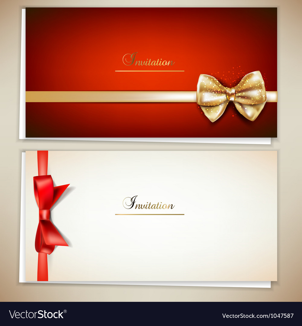 Elegant invitation cards template Royalty Free Vector Image