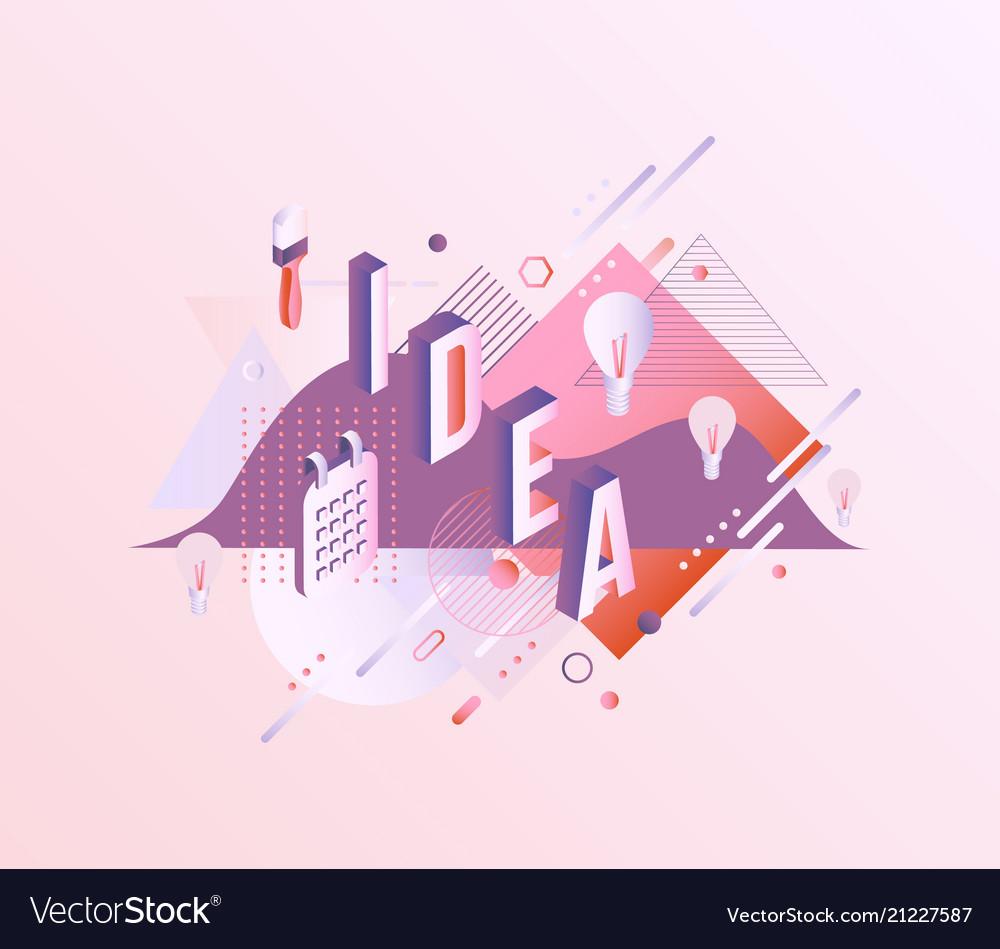 Idea vibrant gradient poster template