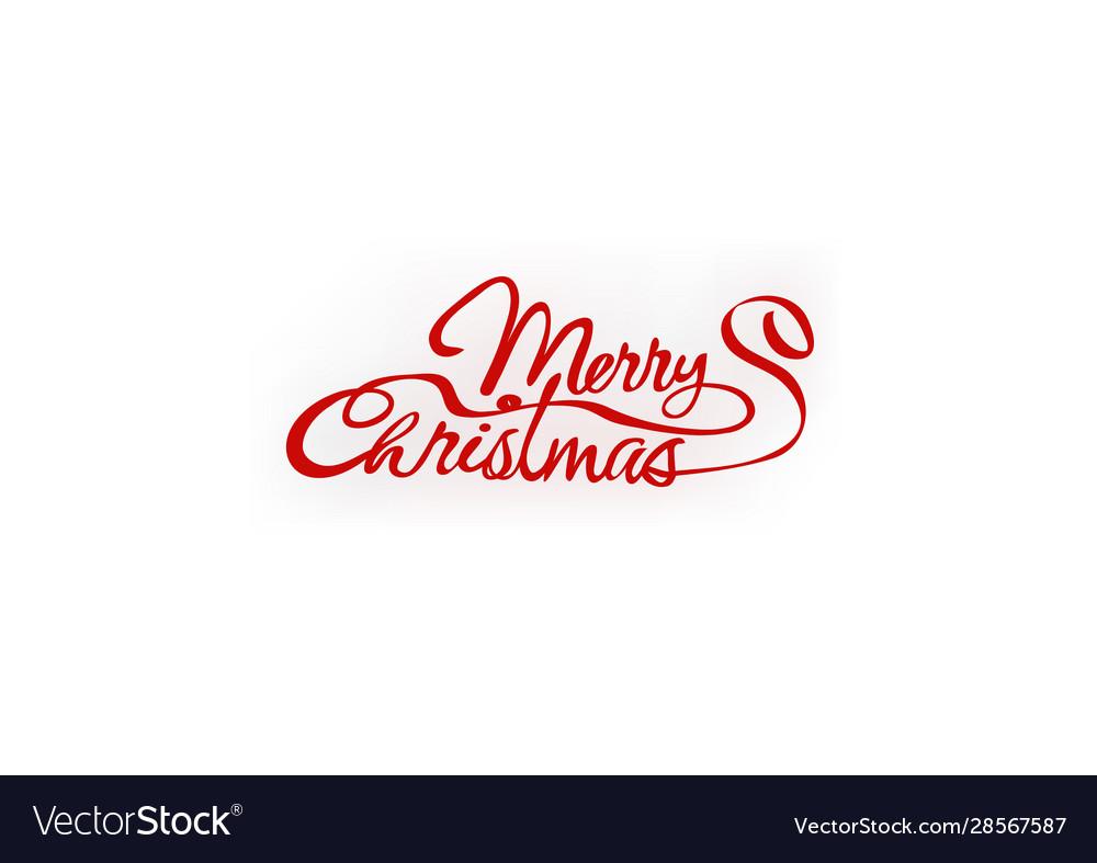 Merry christmas hand letter inscription text
