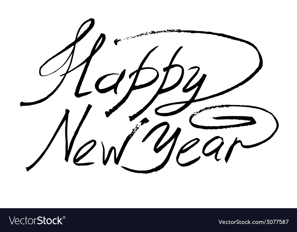 Sketch happy new year hand lettering royalty free vector sketch happy new year hand lettering vector image altavistaventures Image collections